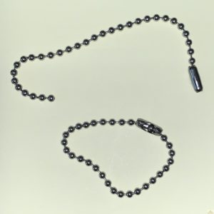Stainless Steel Ball Chain with Connector 100mm Assemblies 100pk
